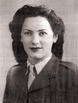 Elaine Madden in FANY uniform 1944